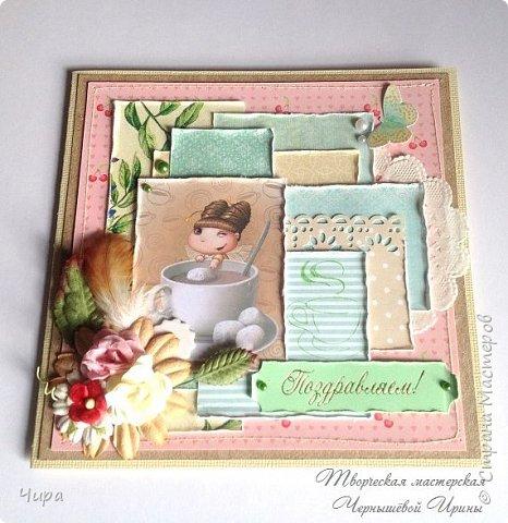 """В предыдущем посте я показала и рассказала, как делала открытки из обрезков-остатков бумаги.И так мне этот проект утилизации понравился, что следом взялась делать ещё один комплект открыток из """"оставшихся остатков""""))) фото 2"""