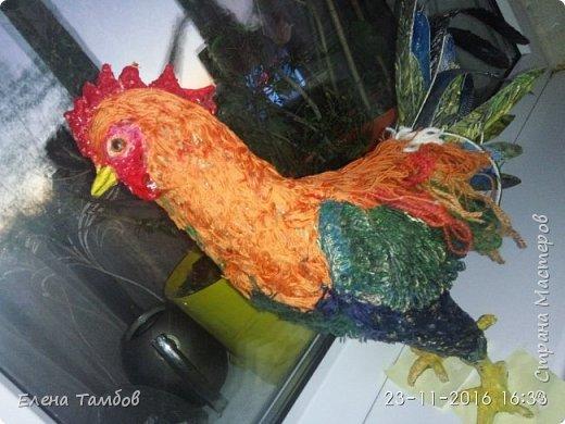 Продолжение поста о создании курицы. Выкладываю новую поделку - Золотого Петушка. Гордая, красивая птица. фото 2