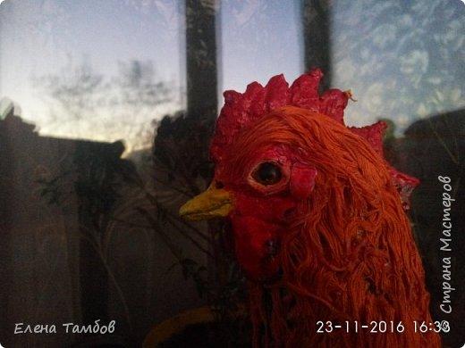 Продолжение поста о создании курицы. Выкладываю новую поделку - Золотого Петушка. Гордая, красивая птица. фото 5
