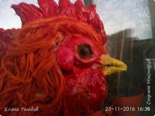 Продолжение поста о создании курицы. Выкладываю новую поделку - Золотого Петушка. Гордая, красивая птица. фото 6