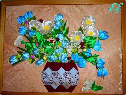 """Картина в японском стиле. Иероглифы обозначают """"Благополучие,богатство и любовь"""".Фон сделан из фома,затонированный акварелью.Иероглифы из кожи.Размер 20*30 фото 2"""