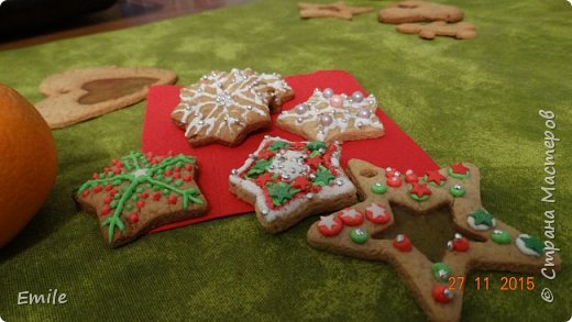 Рождественское имбирное печенье с карамельным витражем фото 2