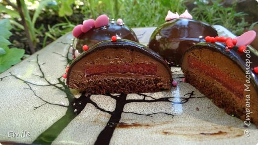 Муссовое пирожное с зеркальной глазурью фото 10