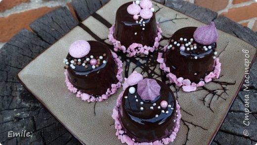 Муссовое пирожное с зеркальной глазурью фото 11