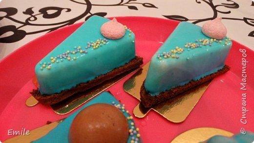 Муссовое пирожное с зеркальной глазурью фото 14