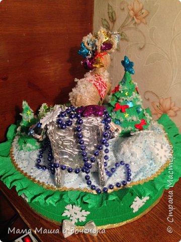 """Всем доброго времени суток, я к вам с очередным своим творением)))) В прошлом году мы  с дочкой делали новогоднего оленя http://stranamasterov.ru/node/976603 , и вот в этом году одна моя хорошая знакомая попросила   ей тоже  сделать """"Новогоднего оленя""""  фото 7"""