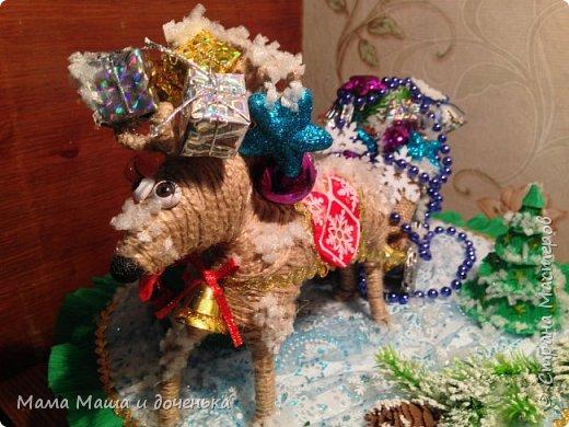 """Всем доброго времени суток, я к вам с очередным своим творением)))) В прошлом году мы  с дочкой делали новогоднего оленя http://stranamasterov.ru/node/976603 , и вот в этом году одна моя хорошая знакомая попросила   ей тоже  сделать """"Новогоднего оленя""""  фото 9"""