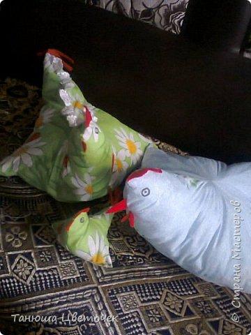 Петух и курица -подушки фото 1