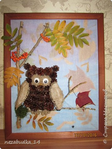 А это наша совушка. Огромное спасибо mavrinatanya за мк. http://stranamasterov.ru/node/831028 фото 1