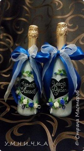 Вот такие бутылочки получились к свадьбе коллеги фото 1
