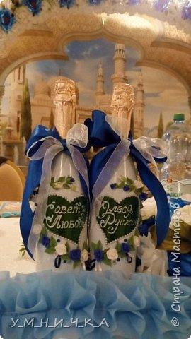 Вот такие бутылочки получились к свадьбе коллеги фото 7