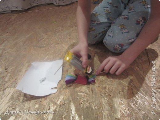 """Здравствуйте! Сегодня сын делал поделку для участия в конкурсе """"Новогодний серпантин"""". Решил сделать символ 2017 года -Петушка.  фото 7"""