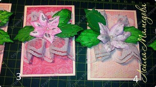"""Запоздала я на этой неделе со своими карточками! В честь праздника всех Мам, я решила подарить цветы. Серия называется """"Цветы для Мам"""". Пусть будут счастливы все-все Мамы!!!! Старалась выдержать заданный скетч. фото 3"""