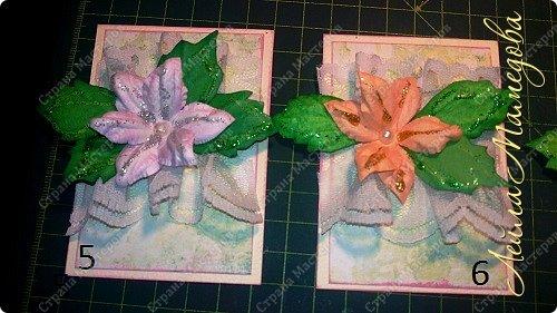 """Запоздала я на этой неделе со своими карточками! В честь праздника всех Мам, я решила подарить цветы. Серия называется """"Цветы для Мам"""". Пусть будут счастливы все-все Мамы!!!! Старалась выдержать заданный скетч. фото 4"""