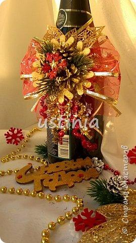 Наконец то я дорвалась до шишек и натворила веночков  и разных новогодних украшательств)))) и думаю это ещё не конец ))) как быстро покрасить шишки я выкладывала вот здесь http://stranamasterov.ru/node/1060218 фото 17
