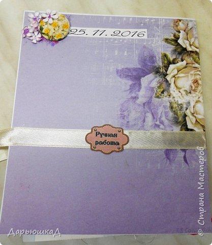Такая очаровательная открытка на свадьбу у меня получилась. Половина открытки - лист с тиснением. фото 8