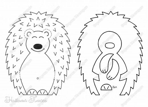 """Всем привет! В продолжение экологической темы, начатой тут - http://stranamasterov.ru/node/1059073, в садике был объявлен новый конкурс в рамках проекта """"Эколята-дошколята"""" - """"Игротека природолюбия"""", для которого нужно было сделать игровые пособия и дидактические игры для экологического воспитания дошкольников. Из родителей никто не откликнулся и по глазам воспитательницы я поняла, что на меня она возлагает большие надежды)) Недолго думая, я вспомнила, что именно такая игра у меня уже есть - http://stranamasterov.ru/node/754072, хотела было отдать её в садик, но передумала)) Во-первых, эта игра уже отправилась в мою коллекцию ёжиков, а во-вторых, очень многие меня просили поделиться схемами и шаблончиками, а я первый раз делала всё на глаз, поэтому практически ничем помочь не могла. В общем, решила я сделать новый набор карточек, немножко побольше размером, а заодно оформила небольшой мастер-класс, может кому-нибудь такая игра тоже очень нужна)) фото 3"""