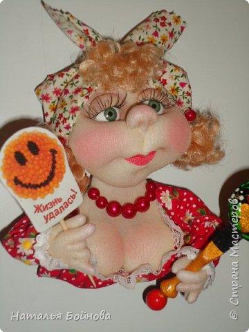 Холодильник- царь кухни)) Кукла магнит на холодильник замечательное дополнение к его интерьеру . Кукла выполнена по идее Е.Лаврентьевой фото 3