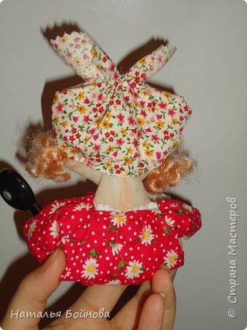 Холодильник- царь кухни)) Кукла магнит на холодильник замечательное дополнение к его интерьеру . Кукла выполнена по идее Е.Лаврентьевой фото 5