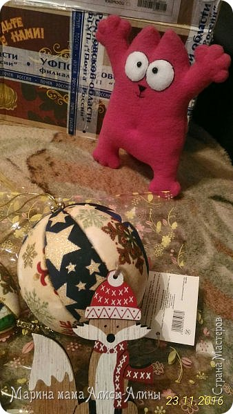 Всем Привет! На этой неделе мне пришла посылочка от нашей замечательной мастерицы НаташиRostoff. Первыми, кого я увидела, когда открыла коробку, это два Саймона))Один розовый-для Алины. фото 15