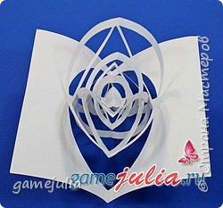 Красивая метель в открытке. Бумажный подвижный вихрь!