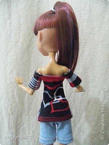 МК футболка для кукол Монстер Хай (Monster High) фото 3