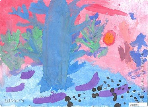 Результат урока рисования во 2 классе. фото 4