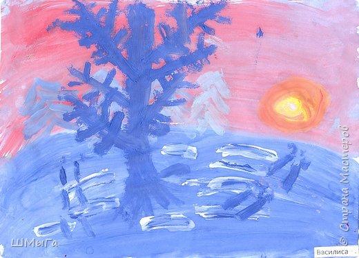 Результат урока рисования во 2 классе. фото 13