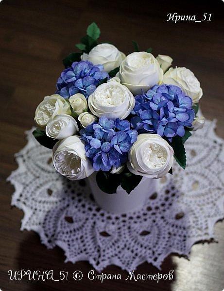 Интерьерная композиция с цветами   из зефирного фома. фото 11