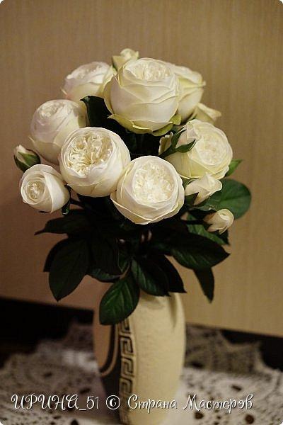 Интерьерная композиция с цветами   из зефирного фома. фото 9
