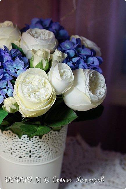 Интерьерная композиция с цветами   из зефирного фома. фото 13