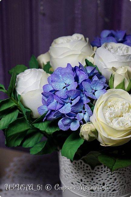 Интерьерная композиция с цветами   из зефирного фома. фото 14
