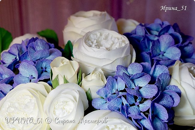 Интерьерная композиция с цветами   из зефирного фома. фото 12