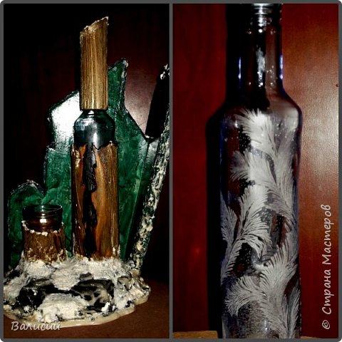 Под малахит.  Имитация камня, имитация снега. Алмазная гравировка но стеклу.