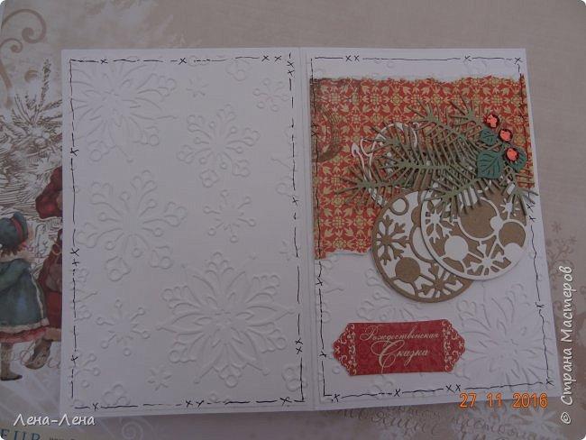 Ещё две новогодних открыточки, тоже с тиснением, тоже быстрые.)) фото 7