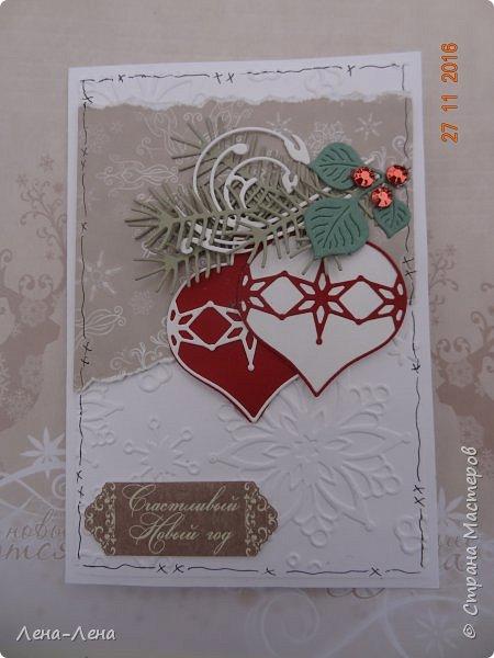 Ещё две новогодних открыточки, тоже с тиснением, тоже быстрые.)) фото 2