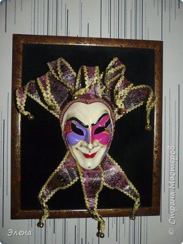 Интерьерная маска Джокер и небольшой МК по короне Джокера . фото 3