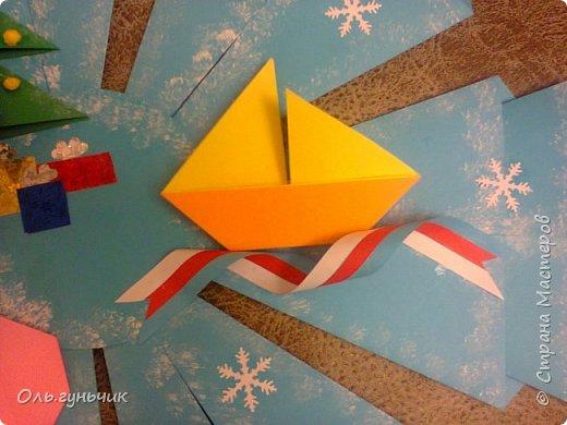 Здравствуйте всем! Попросили меня в школе оформить небольшими плакатами стенд на все времена года...Осень покажу ниже, а это зима...снежинка в технике оригами. Спасибо Голубке за идеи...делала с ребятами ее календарики, а тут решила совместить все зимние месяца и праздники в эти месяцы. Вот что у меня получилось...мне понравилось...все придумала сама, воспользовалась только схемами оригами. фото 8