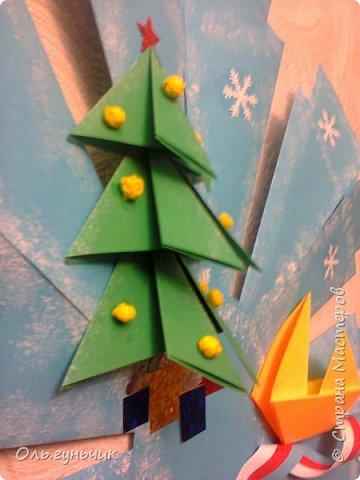 Здравствуйте всем! Попросили меня в школе оформить небольшими плакатами стенд на все времена года...Осень покажу ниже, а это зима...снежинка в технике оригами. Спасибо Голубке за идеи...делала с ребятами ее календарики, а тут решила совместить все зимние месяца и праздники в эти месяцы. Вот что у меня получилось...мне понравилось...все придумала сама, воспользовалась только схемами оригами. фото 5