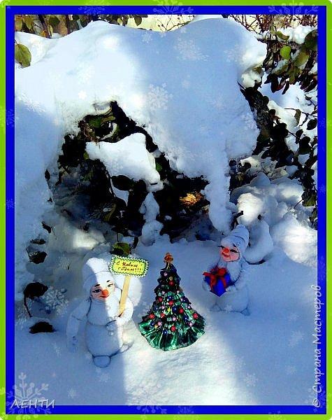 До Нового Года осталось совсем немного времени ))) и мастерицы уже давно принялись за дело! Вот и я решила, что давно пора делать подарки и просто украшения к празднику!!! Я ОЧЕНЬ люблю Новый Год!!!!! Начало положено))) представляю вам моих снеговичков!  фото 6