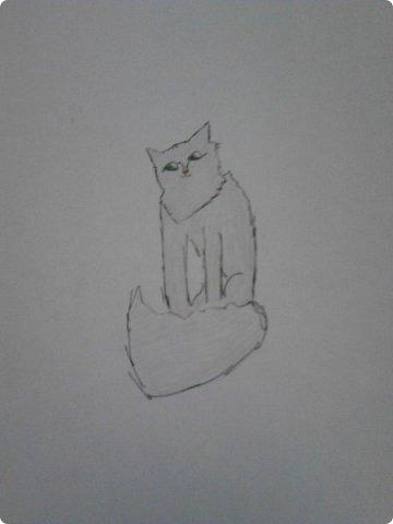 Здравствуй, Страна Мастеров! Как же давно меня тут не было! Сейчас я покажу вам свои новые рисунки.  На уроке ИЗО рисовали необычных существ. Вот мой рисунок. Крылатый Волк. фото 9
