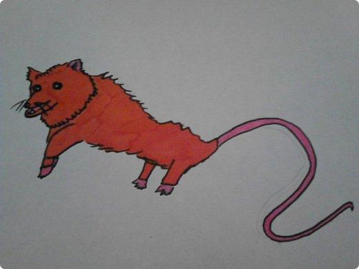 Здравствуй, Страна Мастеров! Как же давно меня тут не было! Сейчас я покажу вам свои новые рисунки.  На уроке ИЗО рисовали необычных существ. Вот мой рисунок. Крылатый Волк. фото 30