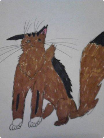 Здравствуй, Страна Мастеров! Как же давно меня тут не было! Сейчас я покажу вам свои новые рисунки.  На уроке ИЗО рисовали необычных существ. Вот мой рисунок. Крылатый Волк. фото 8