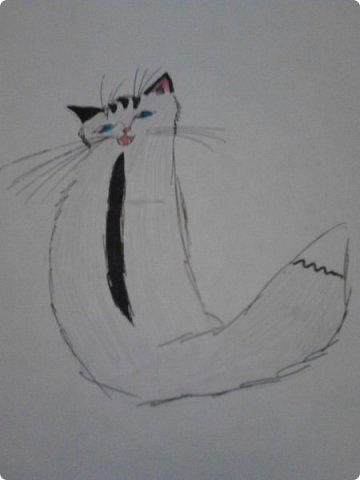 Здравствуй, Страна Мастеров! Как же давно меня тут не было! Сейчас я покажу вам свои новые рисунки.  На уроке ИЗО рисовали необычных существ. Вот мой рисунок. Крылатый Волк. фото 12