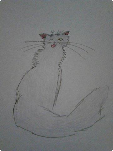 Здравствуй, Страна Мастеров! Как же давно меня тут не было! Сейчас я покажу вам свои новые рисунки.  На уроке ИЗО рисовали необычных существ. Вот мой рисунок. Крылатый Волк. фото 14
