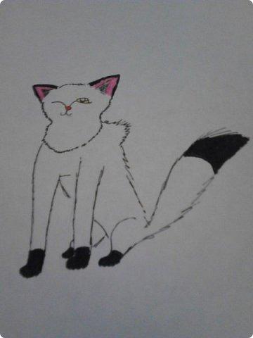 Здравствуй, Страна Мастеров! Как же давно меня тут не было! Сейчас я покажу вам свои новые рисунки.  На уроке ИЗО рисовали необычных существ. Вот мой рисунок. Крылатый Волк. фото 17