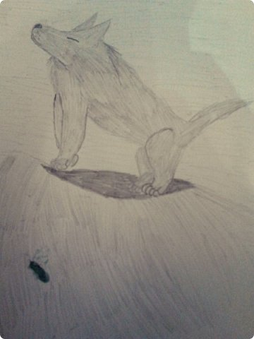 Здравствуй, Страна Мастеров! Как же давно меня тут не было! Сейчас я покажу вам свои новые рисунки.  На уроке ИЗО рисовали необычных существ. Вот мой рисунок. Крылатый Волк. фото 28