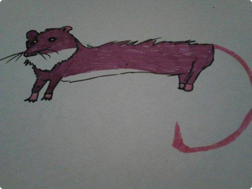 Здравствуй, Страна Мастеров! Как же давно меня тут не было! Сейчас я покажу вам свои новые рисунки.  На уроке ИЗО рисовали необычных существ. Вот мой рисунок. Крылатый Волк. фото 32