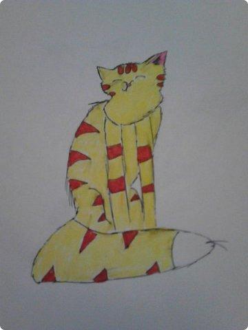 Здравствуй, Страна Мастеров! Как же давно меня тут не было! Сейчас я покажу вам свои новые рисунки.  На уроке ИЗО рисовали необычных существ. Вот мой рисунок. Крылатый Волк. фото 22