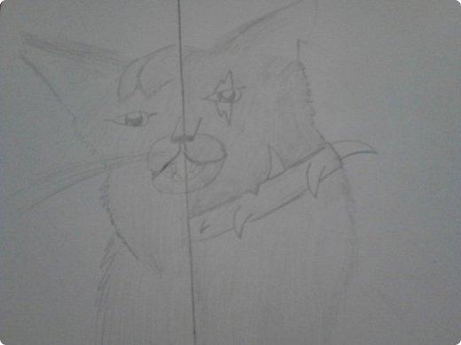 Здравствуй, Страна Мастеров! Как же давно меня тут не было! Сейчас я покажу вам свои новые рисунки.  На уроке ИЗО рисовали необычных существ. Вот мой рисунок. Крылатый Волк. фото 25
